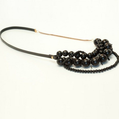 Bari-Halskette Schwarz