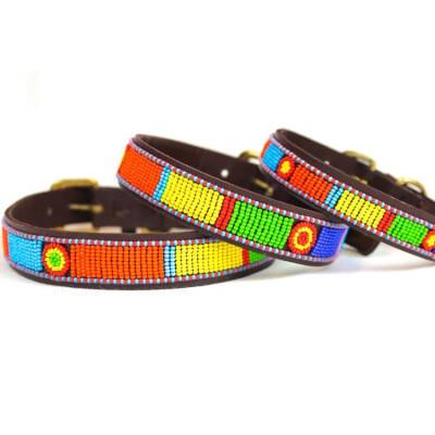 Coachella Dog Collar Small | Brown Leather