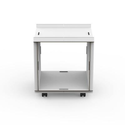 Doppelseitige offene Box auf Rädern comp_Aerkit | Weiß