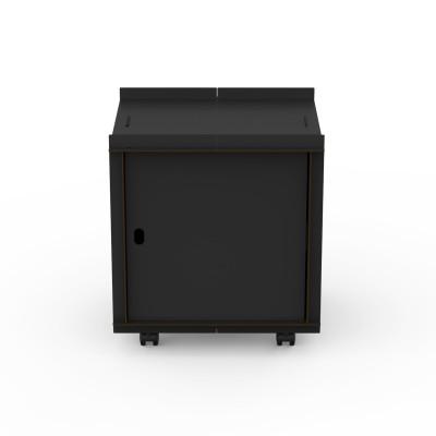 Doppelseitige Box mit Tür auf Rädern comp_Aerkit | Schwarz