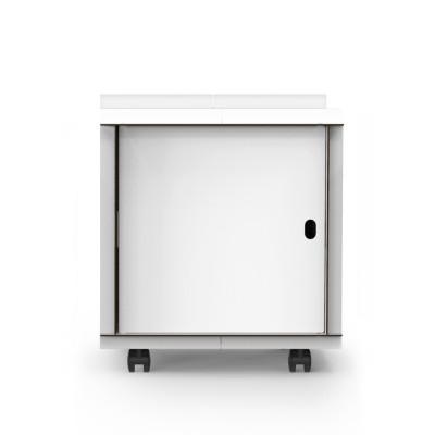 Doppelseitige Box mit Tür auf Rädern comp_Aerkit | Weiß