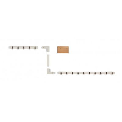 Big Family Coatrack by the Meter | White