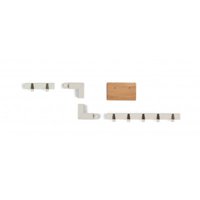 Small Family Coatrack by the Meter | White