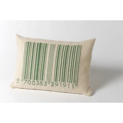 Strichcode-Kissen Grün
