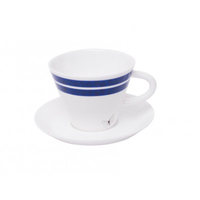 Coffee/Expressocup with plate Blävinge