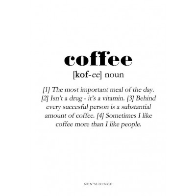 Poster Definition   Coffee
