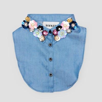 Kids Collar   Blue Flower