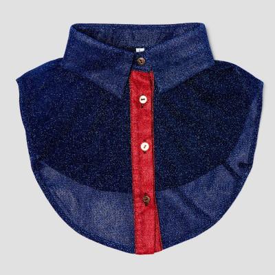 Women Collar   Glitter Blue & Red