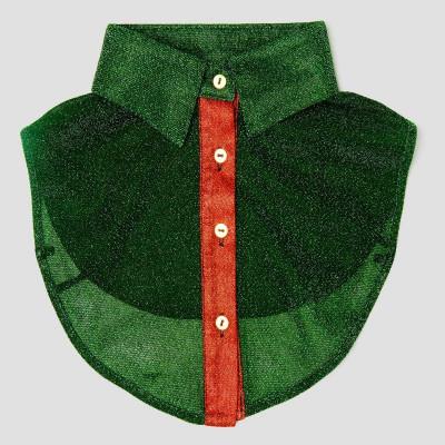 Women Collar   Glitter Green & Red