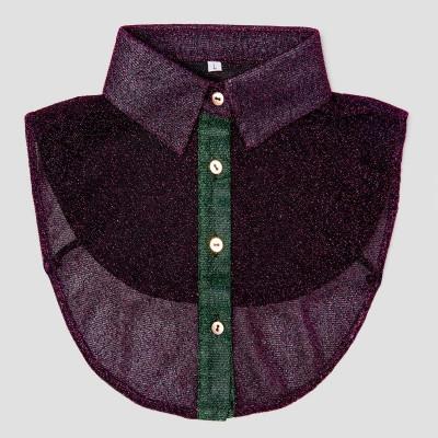 Women Collar   Glitter Purple & Green