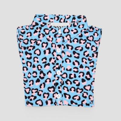 Kids Collar   Leopard Pink Blue