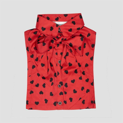 Kids Collar   Red Bow Heart