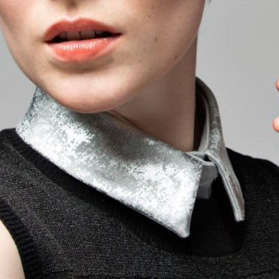 Collar 10 | Light Grey - Straight - Silver
