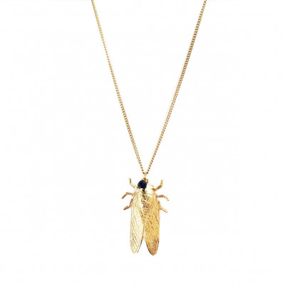 Necklace Insect   Gold