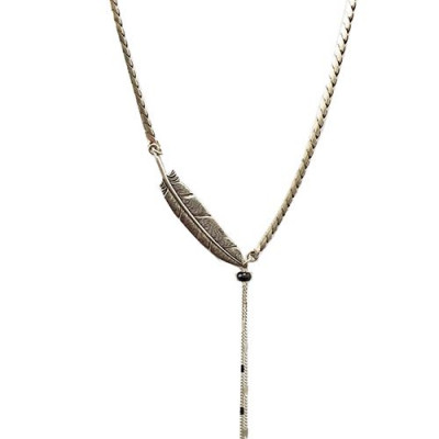 Necklace Feather   Silver
