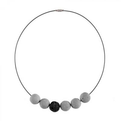Halskette COLLISSIONS | Grau & Schwarz