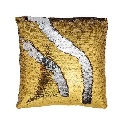 Mermaid Sequin Pillow Cover   Gold/Silver