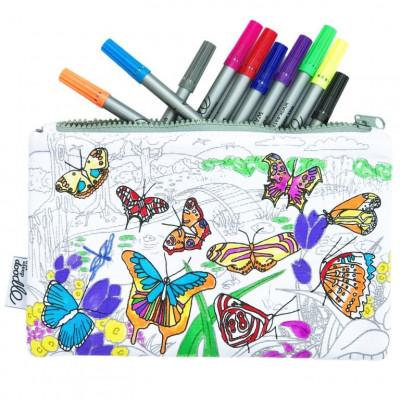 Bleistifttasche | Schmetterling