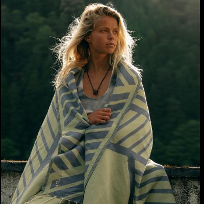 Beach Towel Comporta | Blue & Pistachio