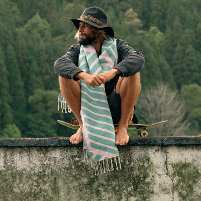 Beach Towel Comporta | Pink & Emerald