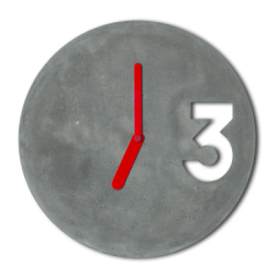 Concrete Clock | Full Hands