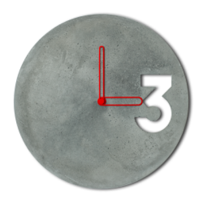Concrete Clock | Outline Hands