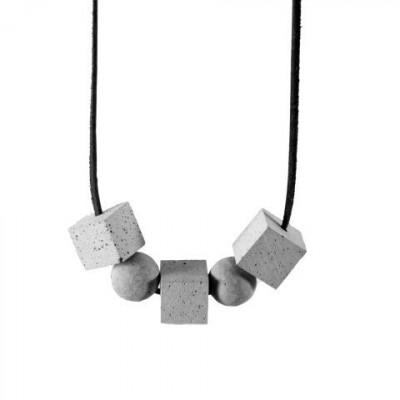 Halskette CONNECTIONS | Grau & Schwarz