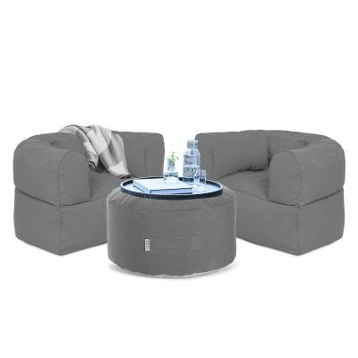 Outdoor Lounge-Set Conversation | Grau