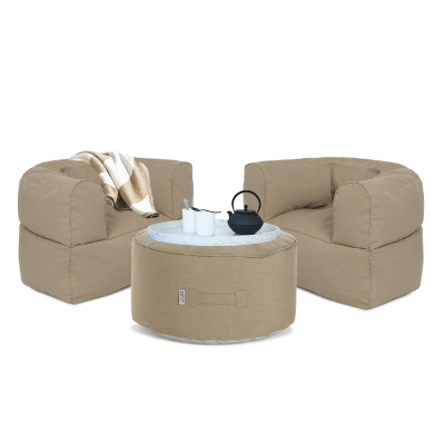 Outdoor Lounge-Set Conversation | Taupe