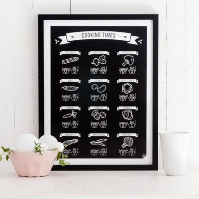 Poster-Kochzeiten | Schwarz