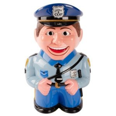 Cookie jar Talking Cop With Motion