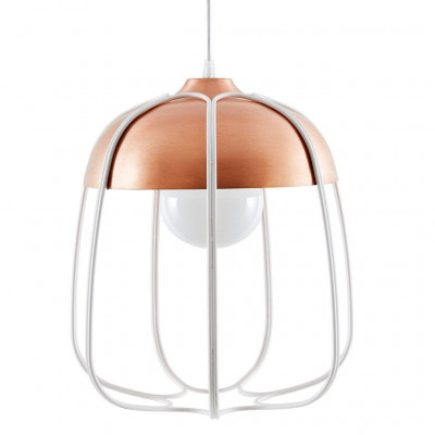 Tull Pendant Lamp   Copper Coated/White
