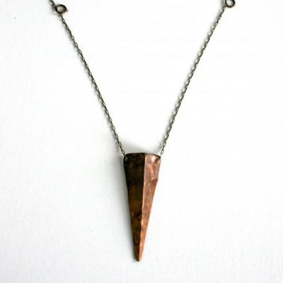 Kupfer-Schild-Halskette