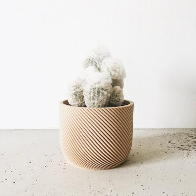 Wooden Geometrical Plant Pot Corde