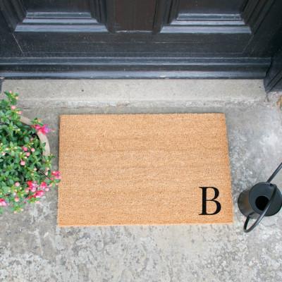 Fußmatte Doormat Monogram Corner Straight   B