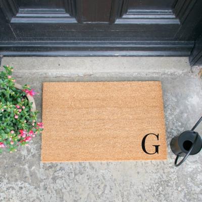 Fußmatte Doormat Monogram Corner Straight   G