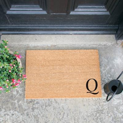 Fußmatte Doormat Monogram Corner Straight   Q