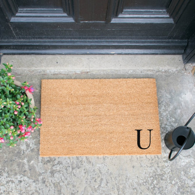 Fußmatte Doormat Monogram Corner Straight   U