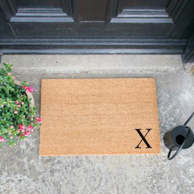 Fußmatte Doormat Monogram Corner Straight   X