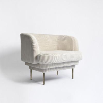 Armchair CORNICE LINCOLN | Brass Legs