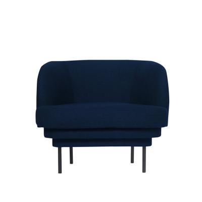 Armchair CORNICE | Blue Velvet Black Legs