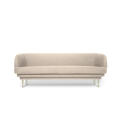 Sofa CORNICE | Beige Velvet Brass Legs