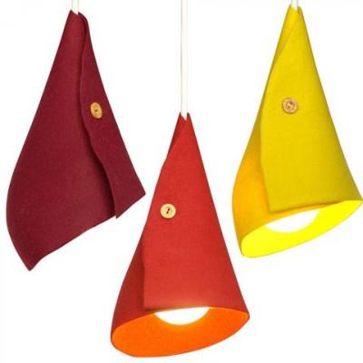 Set of 3 lampshades Warm Tones