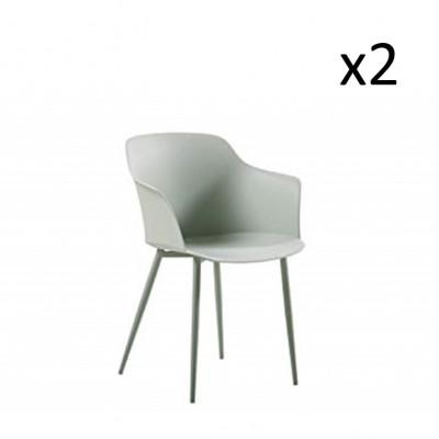 Stühle Corona 2er-Set   Hellgrün