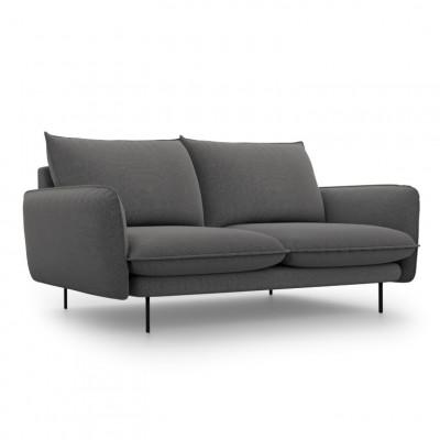 Sofa VIENNA   2 Sitze   Dunkel Grau