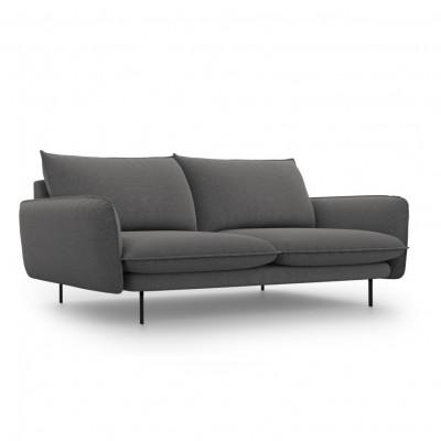 Sofa VIENNA   3 Sitze   Dunkel Grau