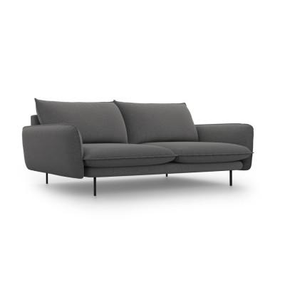 Sofa VIENNA   4 Sitze   Dunkel Grau