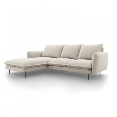 Sofa VIENNA   5 Sitze   Hell Beige   Links