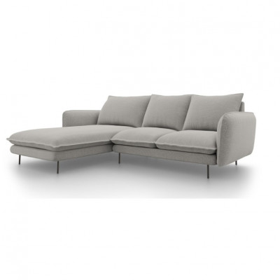 Sofa VIENNA   5 Sitze   Hellgrau   Links