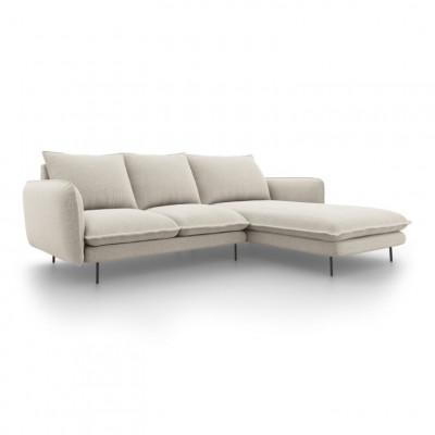 Sofa VIENNA   5 Sitze   Hell Beige   Rechts